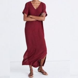 Madewell maxi column dress short sleeved